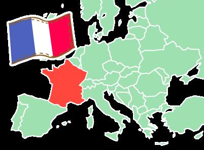 フランスの場所
